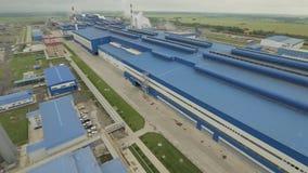 Steel plant area stock video