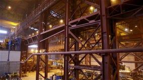 Steel Plant. Construction Farms. Tilt up stock video