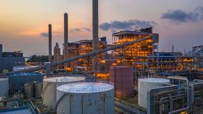 Steel plant, Metallurgical plant, Metallurgical steelmaking factory.  royalty free stock photography