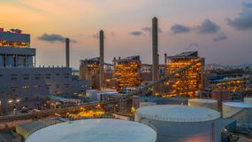 Steel plant, Metallurgical plant, Metallurgical steelmaking factory.  stock photography