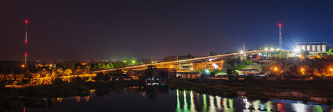 Steel plant at night Stock Image