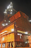 Steel plant in night  time Royalty Free Stock Photo