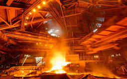 Steel plant Stock Images