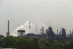Steel Plant of Rourkela. Steam flows out from chimneys at Rourkela Steel Plant, India Stock Photography