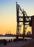 Steel Plant Shipping Cranes Stock Images