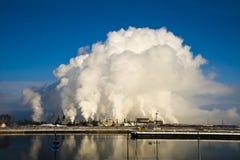 Steel plant steam Stock Image
