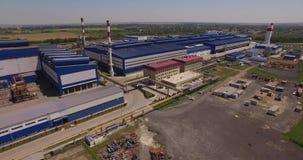 Steel plant stock video