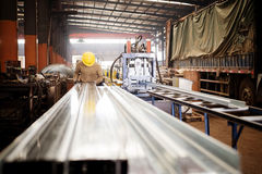 Steel plant workers at work. Royalty Free Stock Photo
