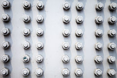 Steel plate background with bolts Royalty Free Stock Image