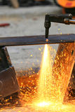 Steel plate cutting Stock Photography