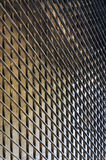 Steel Plate on facade of modern building Royalty Free Stock Photography