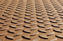 Steel plate floor Royalty Free Stock Images