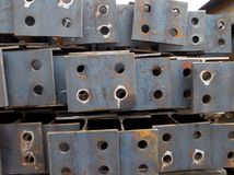 Steel plate with holes Stock Images