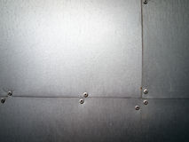 Steel plate panel Stock Photography