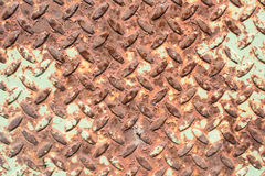 Steel plate with pattern and rust Royalty Free Stock Photography