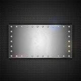Steel plate with place for your text. Vector metal background Royalty Free Stock Photos