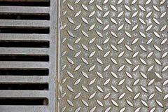 Steel plate slip old metal floor sheet,rusty   texture, metallic ,  industry background, aluminum surfaces , industr Stock Photography