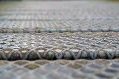 Steel plate slip old metal floor sheet,rusty texture, metallic , industry background, aluminum surfaces , industrial Stock Images