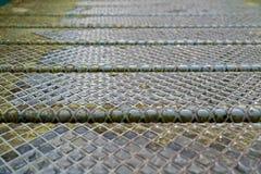 Steel plate slip old metal floor sheet,rusty texture, metallic , industry background, aluminum surfaces , industrial Royalty Free Stock Photography