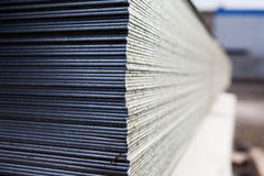 Steel plates at construction Stock Photography
