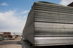 Steel plates at construction Royalty Free Stock Photo