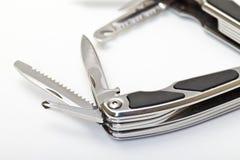 Steel pliers folding multi tool opened Stock Photos