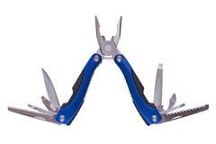Steel pliers folding multi tool opened Stock Image