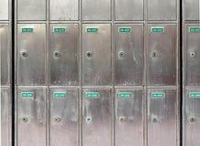 Steel Postboxes Stock Photo