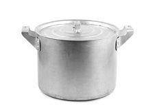 Steel pot Stock Photo