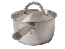 Steel pot Royalty Free Stock Photography