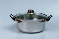 Steel pot Stock Photography