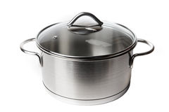 Steel Pot on White Royalty Free Stock Photos