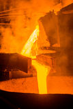 Steel pouring Stock Photography