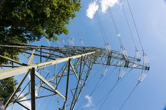 Power pole for energy supply Stock Photography