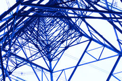 Steel power tower Royalty Free Stock Image