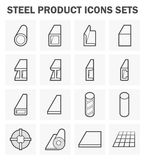 Steel product icon. Steel product and construction material icons sets Royalty Free Stock Photo