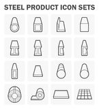 Steel product icon. Steel product and construction material icon sets Stock Images