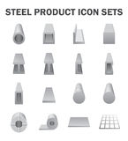Steel product icon Stock Image