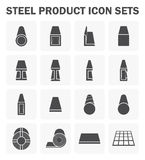 Steel product icon. Steel product and construction material icon sets Royalty Free Stock Photography