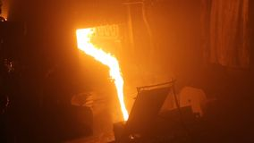 Steel production in electric furnaces, metallurgical plant stock footage