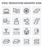 Steel production icon Royalty Free Stock Image