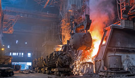 Steel production plant Royalty Free Stock Photography