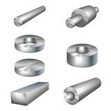 Steel products metal parts Stock Photo