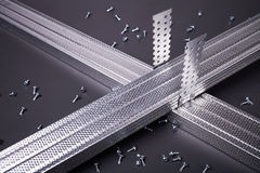 Steel profile for plasterboard Stock Photography