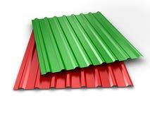 Steel profile sheets Stock Photo