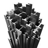 Steel Profiles. Steel Beam Profiles on white background royalty free illustration