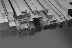 Steel Profiles Stock Image