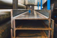 Steel profiles Stock Images