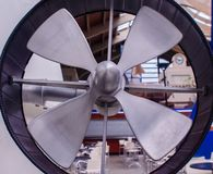 Steel propeller underwater research bathyscaphe stock photography