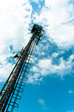 Steel radio tower Stock Images